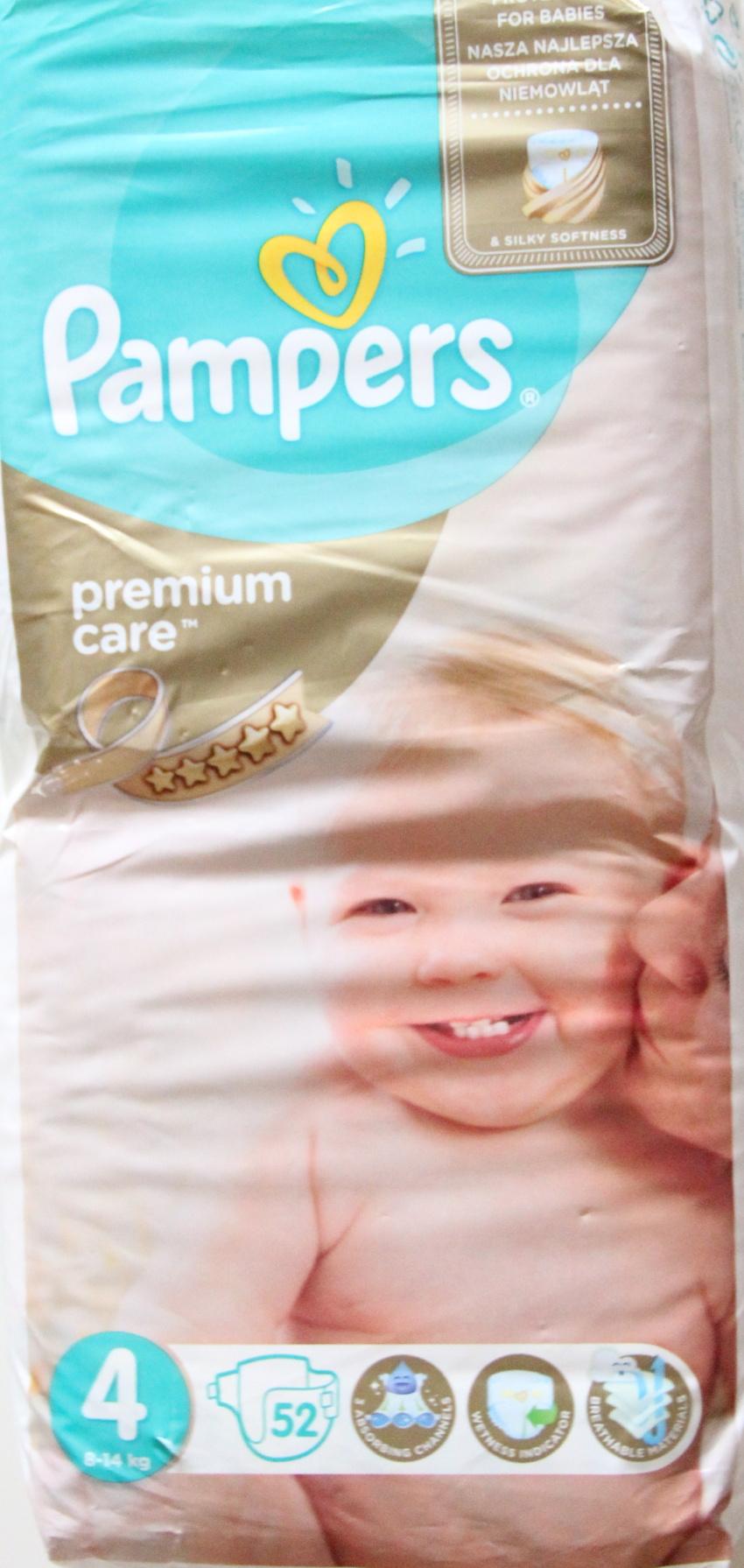 Pampers Premium Care (staré) - obal ze přední strany