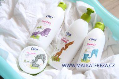 Recenze Cien Baby z Lidlu: mycí gel, šampón, koupel a krém pro kojence